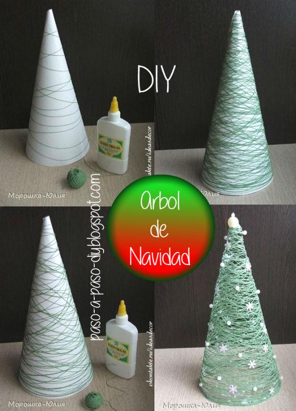 Cómo hacer un abeto de Navidad paso a paso