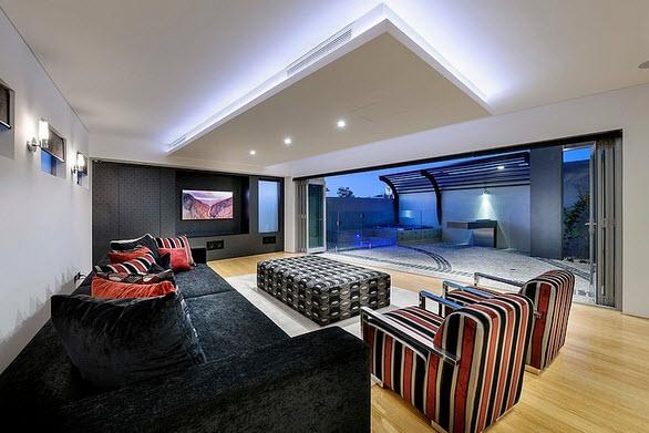 Fachada y dise o interior de casa moderna de dos pisos for Interior de la casa de madera moderna