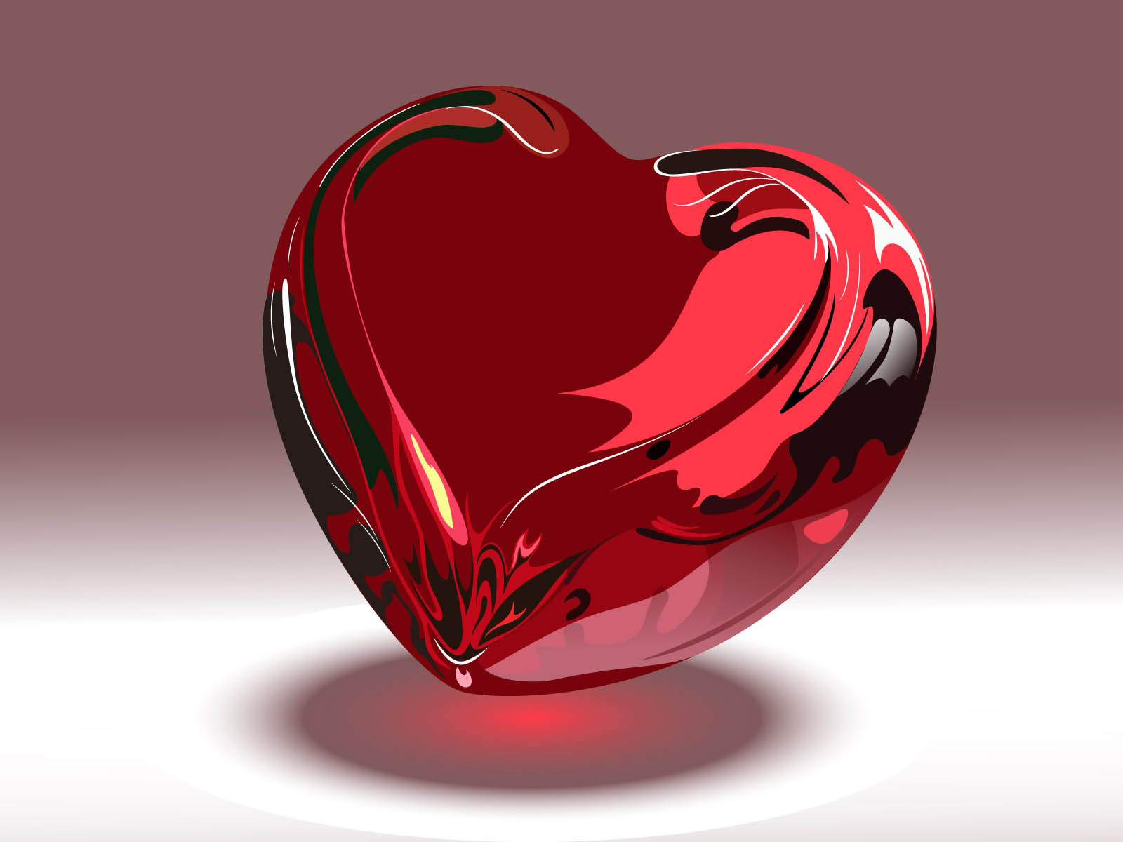 Celebrity Wallpapers: Crystal Red Hearts