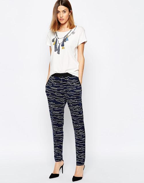 baum und pferdgarten trousers, tiger print trousers,