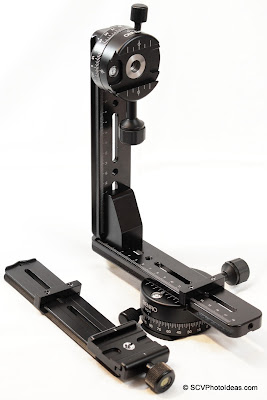 Panorama head structure w/ panorama clamps & nodal rail overview