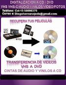 Digitalizacion a cd / dvd