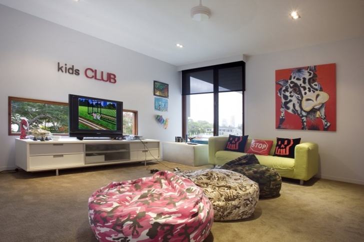 Modern Mansion Game Room