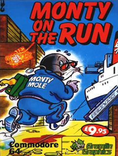 Carátula del videojuego para Commodore 64 : Monty On the Run (Gremlin Graphics, 1985)