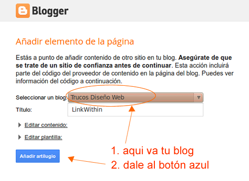 poner links relacionados en blogger