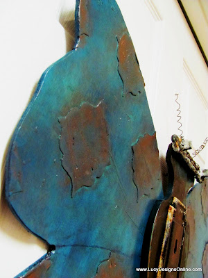 verdigris medallions on butterfly wings