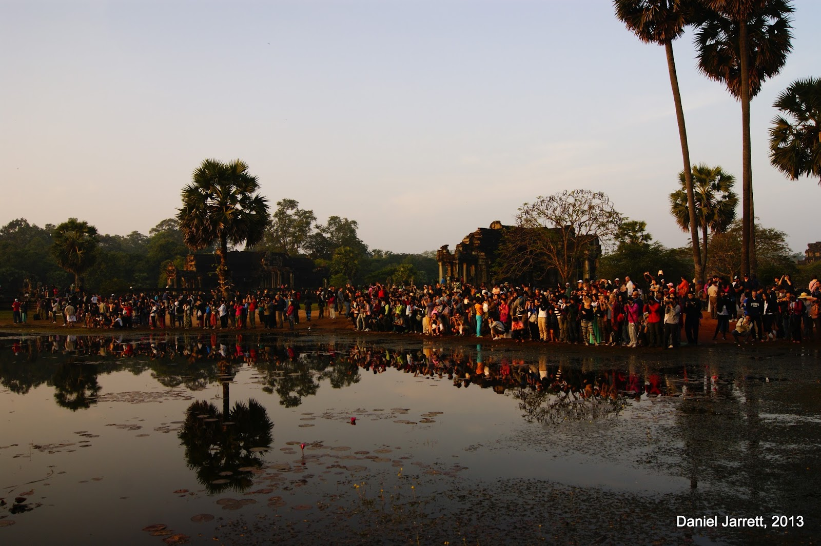 Sunrise At Angkor Wat People