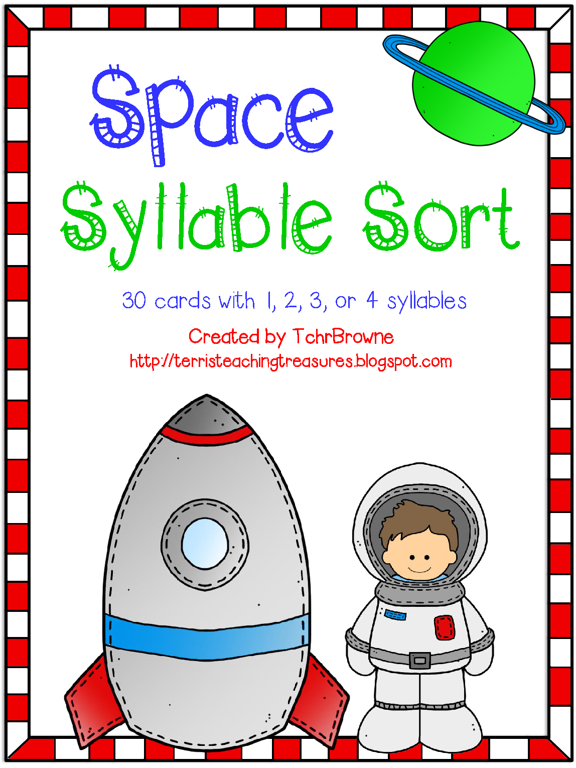 http://www.teacherspayteachers.com/Product/Space-Words-Syllable-Sort-1345801