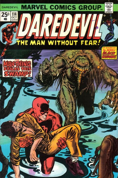 Daredevil and the Black Widow #114, Man-Thing