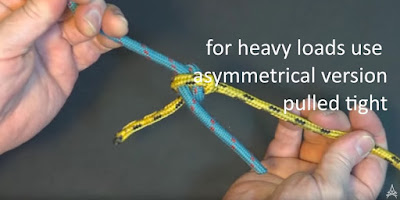 demonstration of asymmetrical version of the carrick bend
