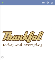 Thankful Facebook Emoticon