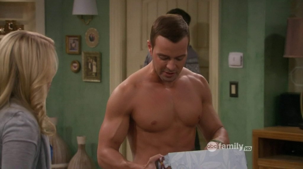 Oliver Hudson Rules Of Engagement Shirtless Joey Lawrence Shirtless in