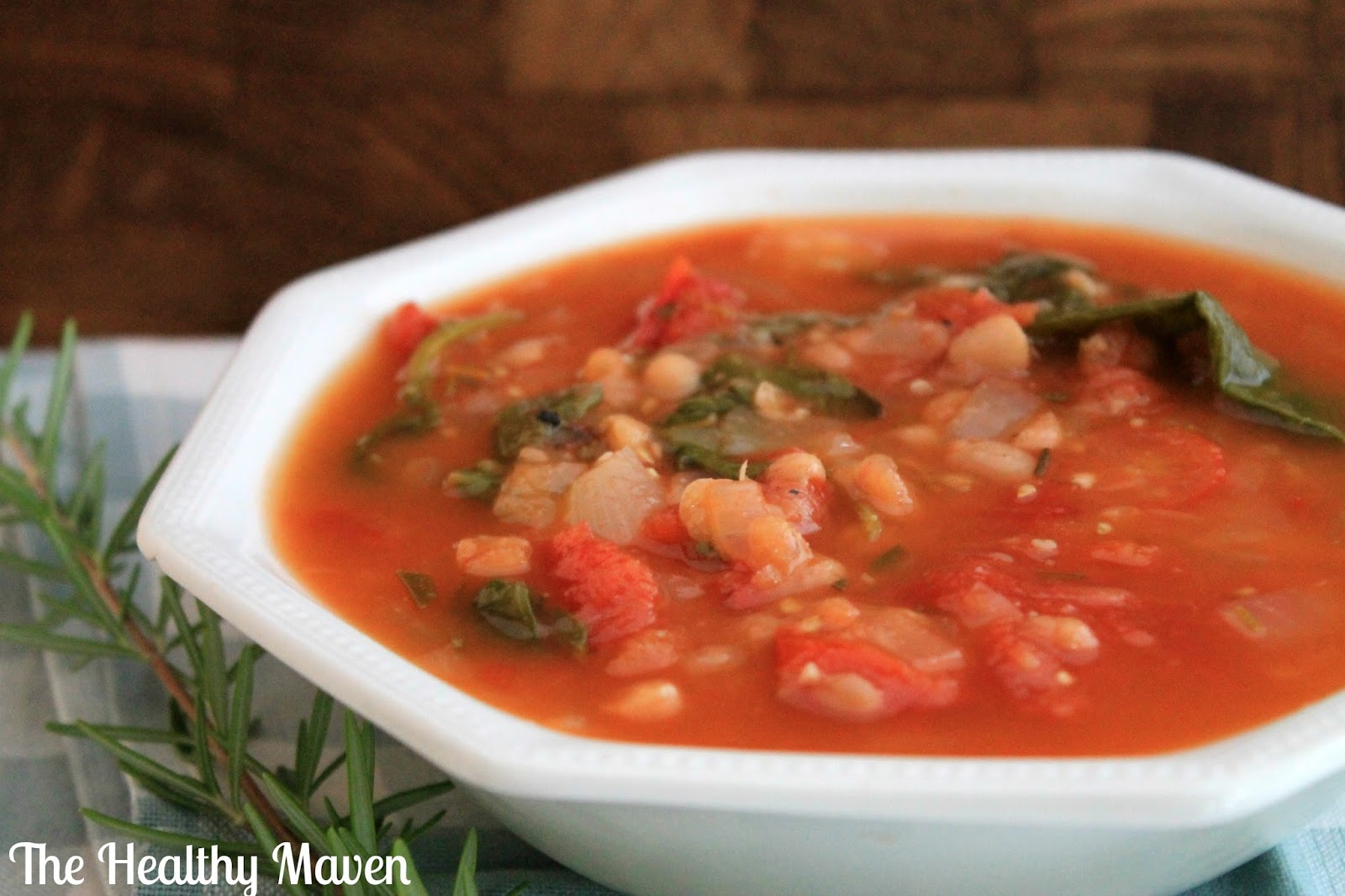 Tuscan White Bean Soup - The Healthy Maven