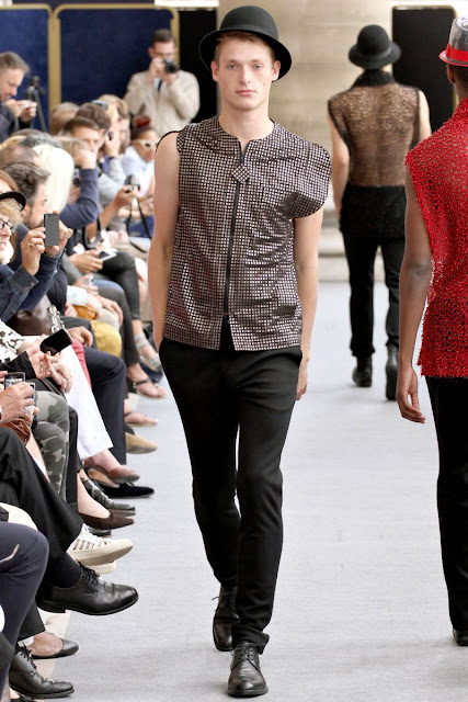 Cute male model on the runway