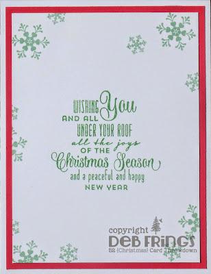 Christmas Tag inside - photo by Deborah Frings - Deborah's Gems