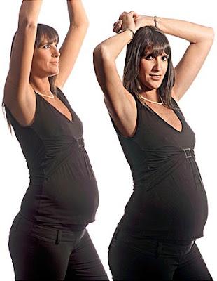 Gabriela Pérez del Solar luciendo su embarazo