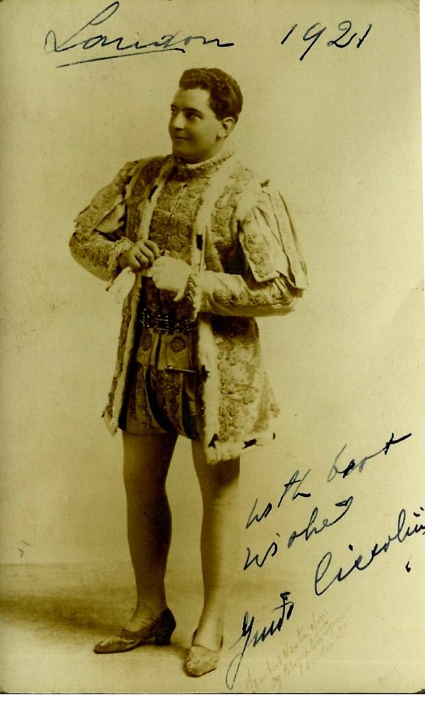 ITALIAN TENOR GUIDO CICCOLINI (1885 - 1963) CD