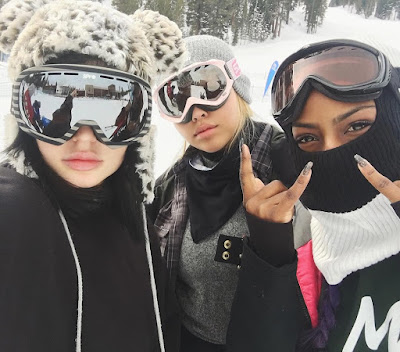 Living The Good Life: Kylie Jenner Goes Snow Skating With Friends (Photo, Video)