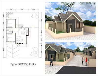 desain rumah type 36 hook