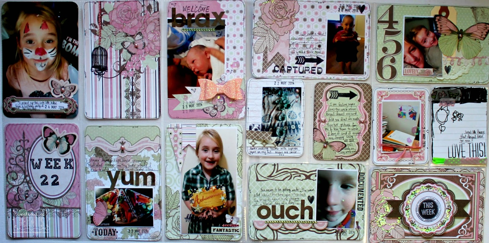 Primrose Misc Me Project Life spread by Bernii Miller for BoBunny.