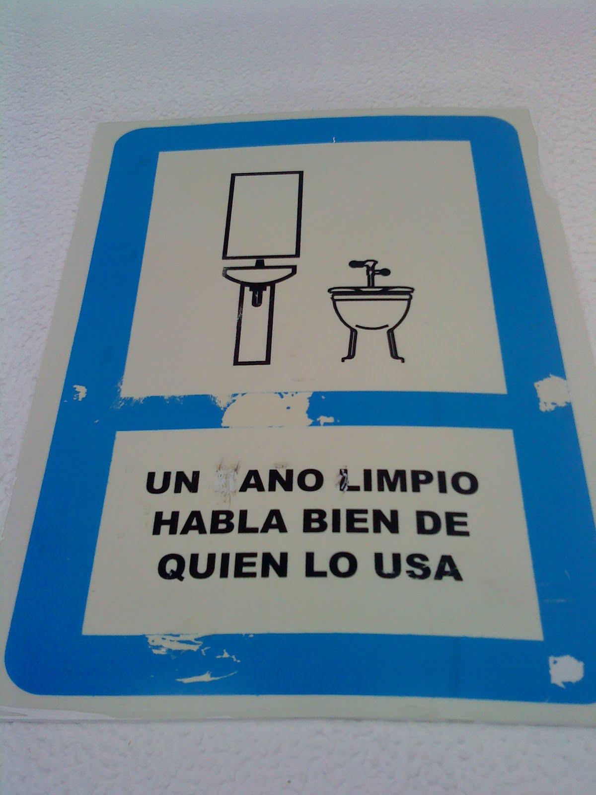 Imagen De Baño Limpio:Letreros para baños publicos – Imagui