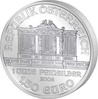 naložbeno srebro srebrnik 1 oz v tubi 20 kosov 2012