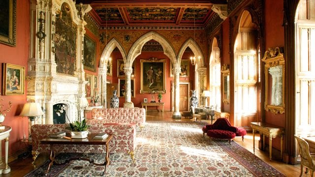 Drawing room with Titian, Veronese, Ramsay, and Tintoretto, Mount Stuart House, Isle of Bute