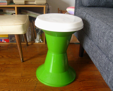 ismoyo's vintage playground: mod home decor - green stool plant stand side table