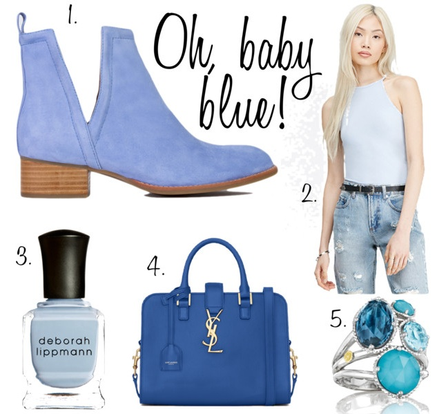 Baby blue shopping picks from Vancouver blogger Covet & Acquire