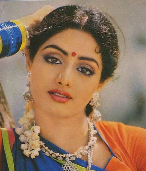 Beautiful Indian Bollywood Actress All Time: Sridevi: 1980s Sridevi