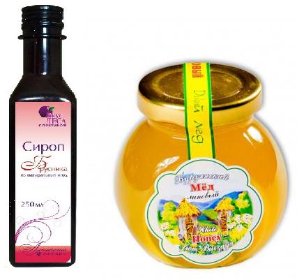 Брусничный сироп, мед