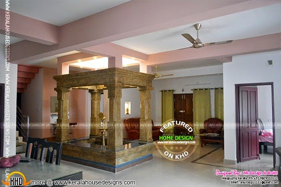 2172 kerala house with 3d view and plan - Fusion Home Design Keralahousedesigns