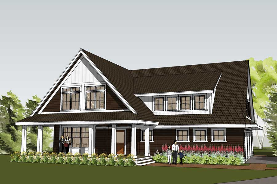 Simply elegant home designs blog new home design features for House plans with shed dormers