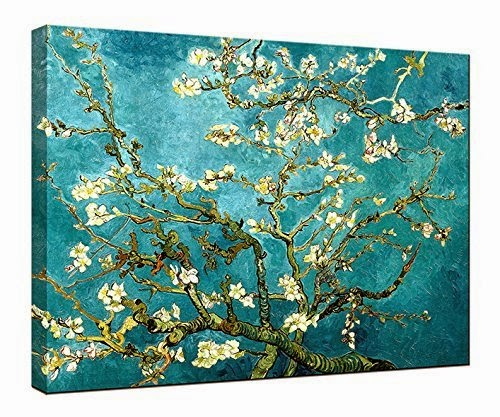 Canvas Print, Classic Van Gogh Artwork Oil Paintings Reproduction Almond Blossom Canvas Picture Photo Prints on Canvas Art for Wall