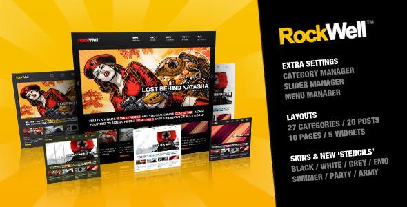 Image for RockWell – Portfolio & Blog Theme by ThemeForest