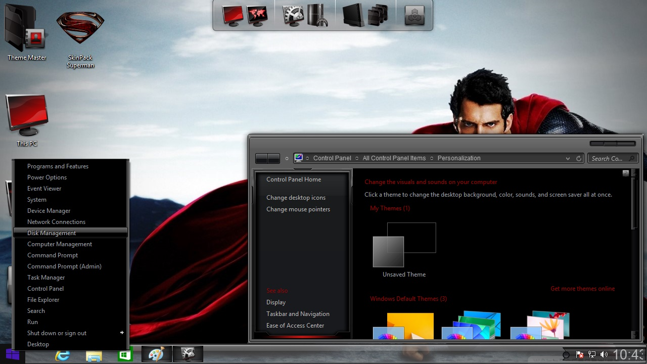 How to install Superman Man of Steel Transformation Pack on Windows 8.1