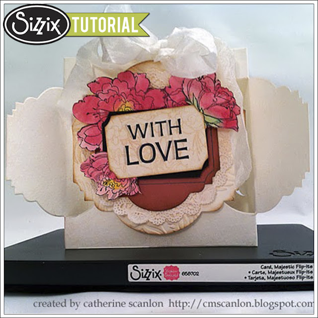 Sizzix Die Cutting Tutorial: With Love Flip-Its Card by Catherine Scanlon
