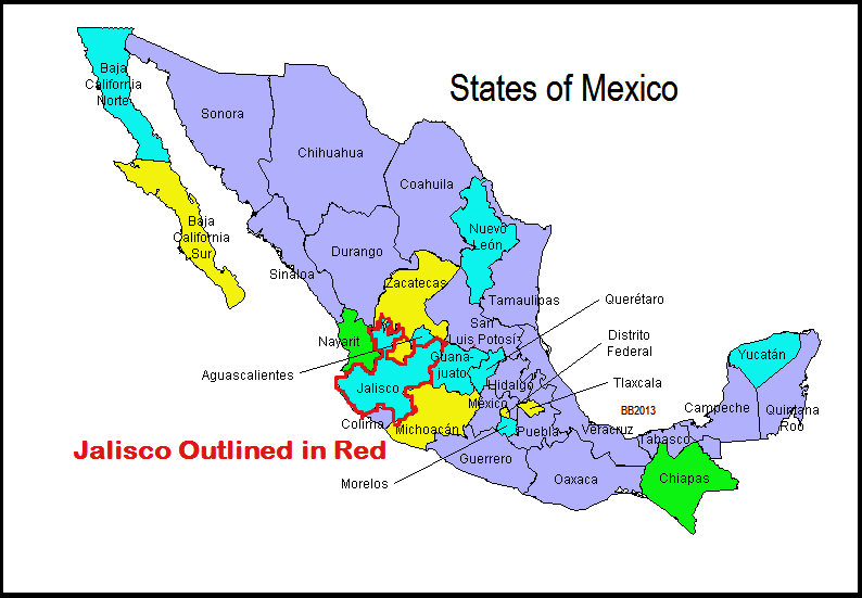 Borderland Beat CJNGs Split With Sinaloa and the Possible Fallout – Map of Mexico Sinaloa