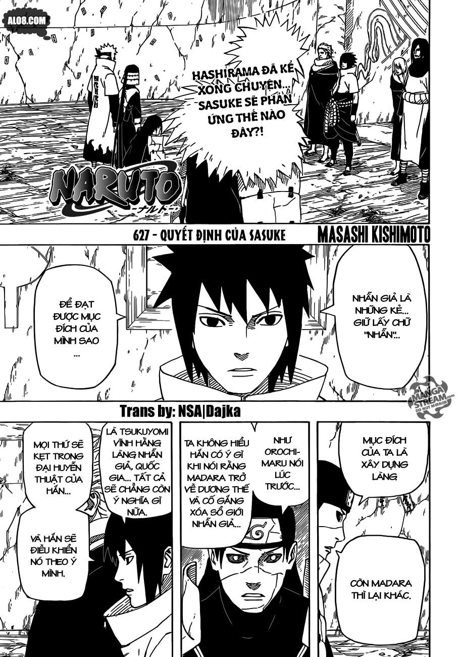 Naruto chap 627 Trang 1 - Mangak.info