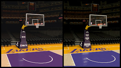NBA 2K14 Lakers Stadium Backboard Mod