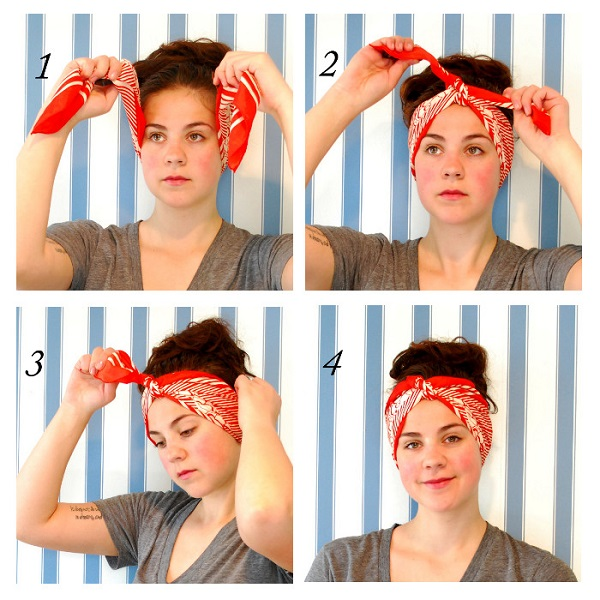 tie a head scarf Click the link to see all four with instructions Book On How To Tie Head Scarves