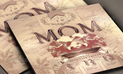 Tribute to Mom 4x6 Flyer and CD Cover