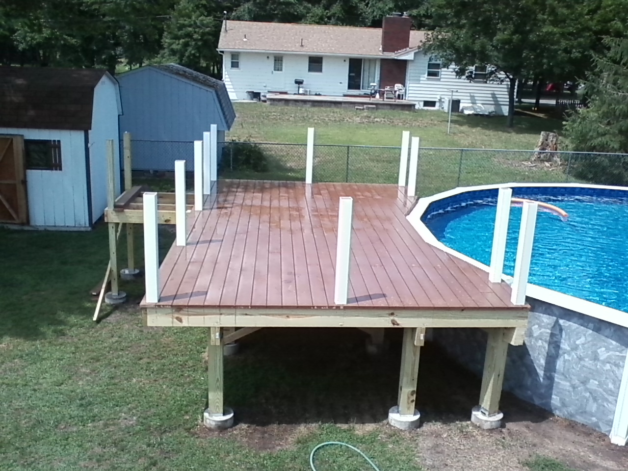 Home remodeling and improvements tips and how tos trex composite trex composite decking in progress baanklon Images