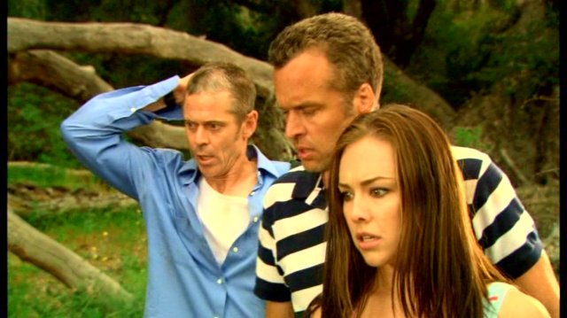 C. Thomas Howell, Darren Dalton and Lindsey McKeon