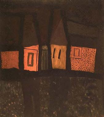 Vajda Lajos: Házak a vízparton