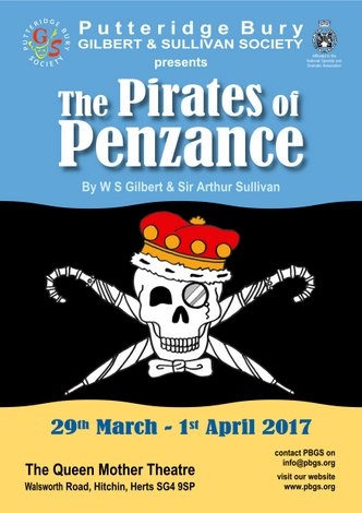 29 MARCH - 1 APRIL 2017: THE PIRATES OF PENZANCE