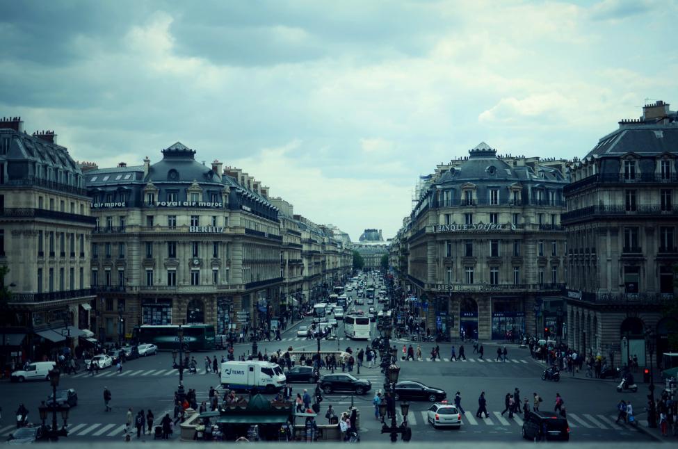 view of paris from opera garnier