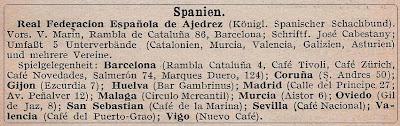 España en el calendario alemán de ajedrez de 1935