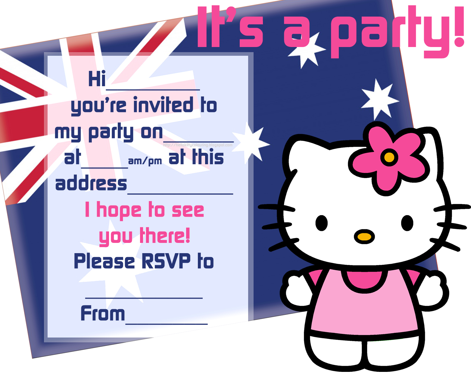 hello kitty coloring pages n hello kitty invitation