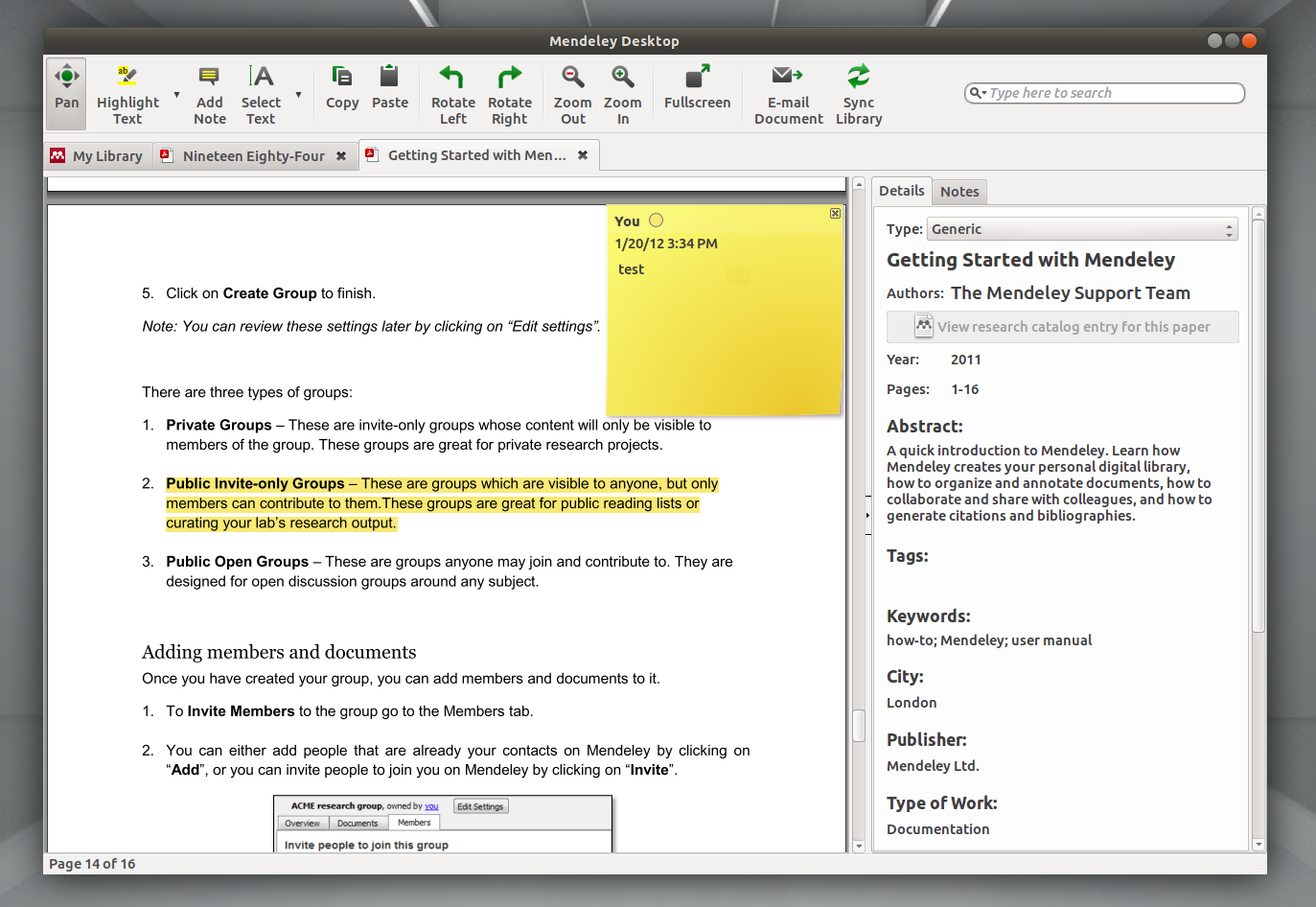 annotate pdf linux